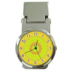 Mandala Money Clip With Watch