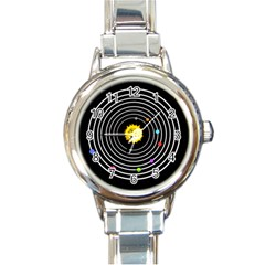 Solar System Round Italian Charm Watch by PaolAllen2