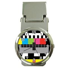 Test Pattern Money Clip With Watch