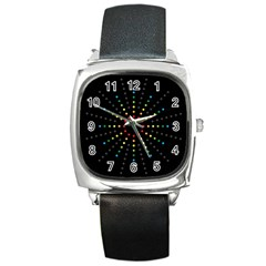 Fireworks Square Leather Watch by Contest1762364