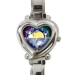 Fishing Dead Heart Italian Charm Watch