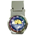 Fishing Dead Money Clip with Watch Front