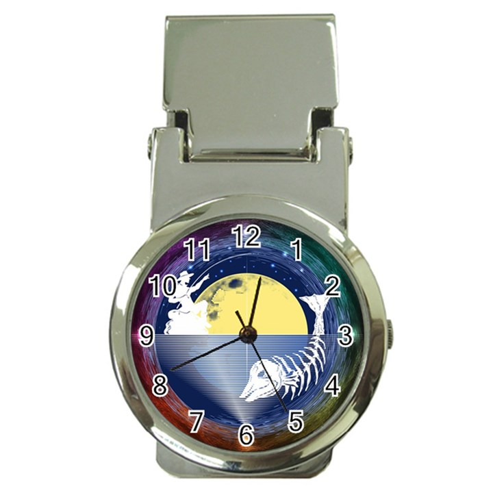 Fishing Dead Money Clip with Watch