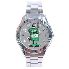 Don t waste your time... Stainless Steel Watch by Contest1771648