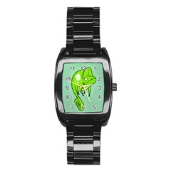 Lucky Lizard Stainless Steel Barrel Watch by Contest1780262