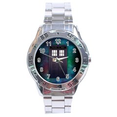 The Time Traveler Stainless Steel Watch by Contest1748470