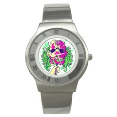 Bozo Zombie Stainless Steel Watch (Slim) by Contest1731890
