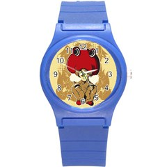 Flan Plastic Sport Watch (small) by DesignsbyReg2