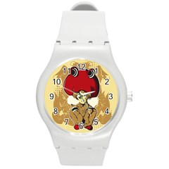 Flan Plastic Sport Watch (medium) by DesignsbyReg2