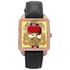 Flan Rose Gold Leather Watch  by DesignsbyReg2
