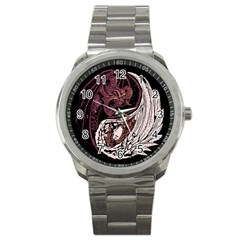 Yinyang Sport Metal Watch by DesignsbyReg2
