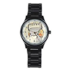 Happy Beam Sport Metal Watch (black) by RachelIsaacs