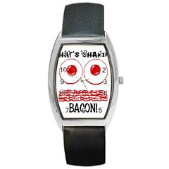 Whats Shakin Bacon? Tonneau Leather Watch