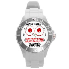 Whats Shakin Bacon? Plastic Sport Watch (large) by Contest1804625