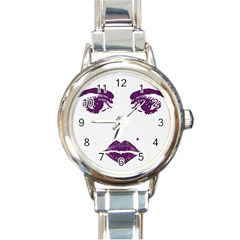 Beauty Time Round Italian Charm Watch by Contest1704350