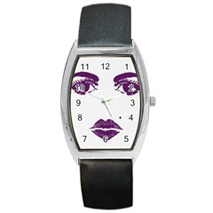 Beauty Time Tonneau Leather Watch