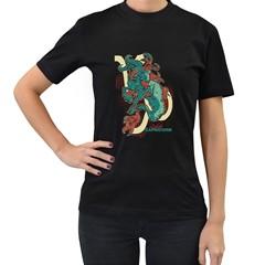 Capricorn Womens' Two Sided T Shirt (black)