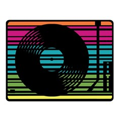 Dj Turn Table Fleece Blanket (small) by PaolAllen2