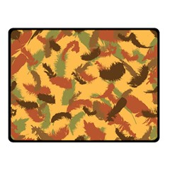 Feathers Fall Fleece Blanket (small) by DesignsbyReg2
