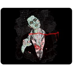 Mr  Dead Line Fleece Blanket (medium) by Contest1736674