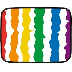Rainbow Cake Mini Fleece Blanket (two Sided)