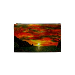 Alyssa s Sunset by Ave Hurley ArtRevu - Cosmetic Bag (Small) by ArtRave2