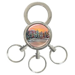 jane s Winter Sunset   By Ave Hurley Of Artrevu   3 Ring Key Chain by ArtRave2