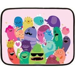 Happy Monsters Mini Fleece Blanket (two Sided) by Contest1771913