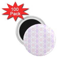 Allover Graphic Soft Pink 1 75  Button Magnet (100 Pack)