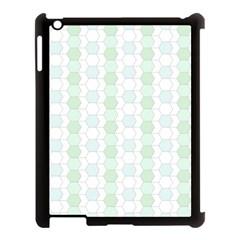 Allover Graphic Soft Aqua Apple Ipad 3/4 Case (black)