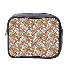 Allover Graphic Brown Mini Travel Toiletry Bag (two Sides) by ImpressiveMoments
