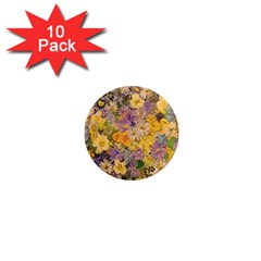 Spring Flowers Effect 1  Mini Button Magnet (10 Pack)