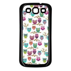Happy Owls Samsung Galaxy S3 Back Case (black)