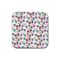Happy Owls Drink Coaster (square)