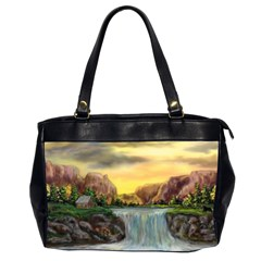 Brentons Waterfall   Ave Hurley   Artrave   Oversize Office Handbag (two Sides) by ArtRave2