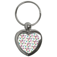 Happy Owls Key Chain (heart)