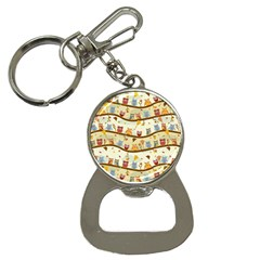 Autumn Owls Bottle Opener Key Chain by Ancello