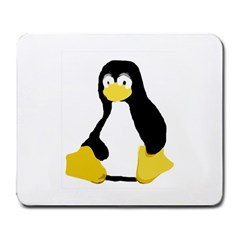 Primitive Linux Tux Penguin Large Mouse Pad (rectangle) by youshidesign