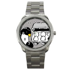 Egg Box Linux Sport Metal Watch