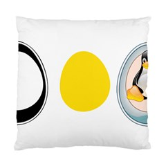 Linux Tux Penguin In The Egg Cushion Case (single Sided)  by youshidesign