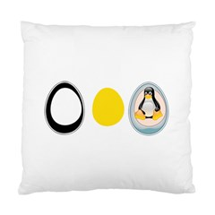 Linux Tux Penguin In The Egg Cushion Case (two Sided)  by youshidesign