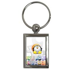 Linux Versions Key Chain (rectangle) by youshidesign