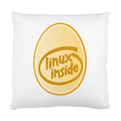 Linux Inside Egg Cushion Case (two Sided)  by youshidesign