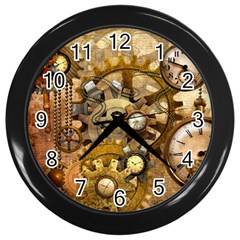 Steampunk Wall Clock (black)