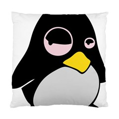 Lazy Linux Tux Penguin Cushion Case (two Sided)  by youshidesign