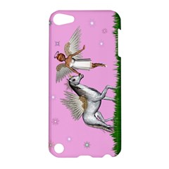 Unicorn And Fairy In A Grass Field And Sparkles Apple Ipod Touch 5 Hardshell Case by goldenjackal