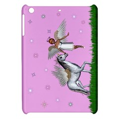 Unicorn And Fairy In A Grass Field And Sparkles Apple Ipad Mini Hardshell Case by goldenjackal