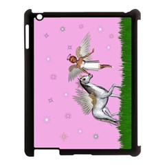 Unicorn And Fairy In A Grass Field And Sparkles Apple Ipad 3/4 Case (black) by goldenjackal
