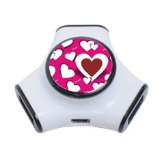 Valentine Hearts  3 Port Usb Hub by Colorfulart23