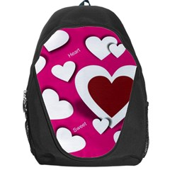 Valentine Hearts  Backpack Bag by Colorfulart23